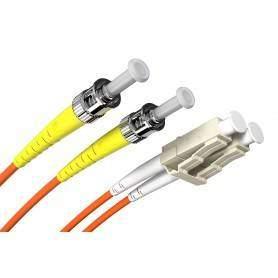Jarretière fibre LC-ST MM duplex OM1 (1m)