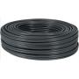 Solid core 4 pair core cable black U/UTP Cat5e 100m