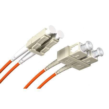 Jarretière fibre LC-SC MM duplex OM3 (1m) Opton