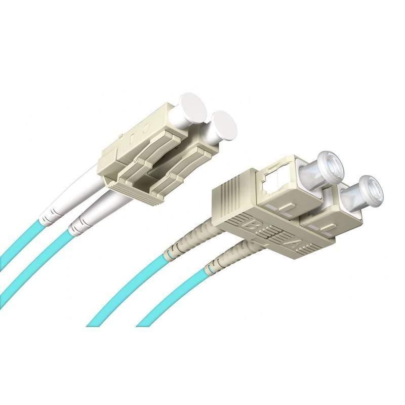 Jarretière fibre LC-SC MM duplex OM4 (1m)